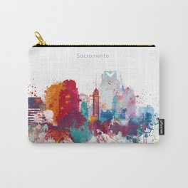 Colorful Sacramento watercolor skyline Carry-All Pouch