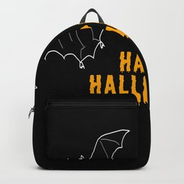 Happy Halloween Bat Backpack