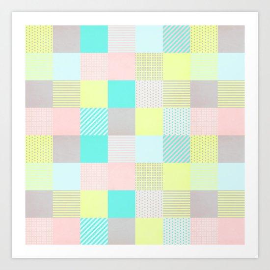 Decorated Pixel II Art Print