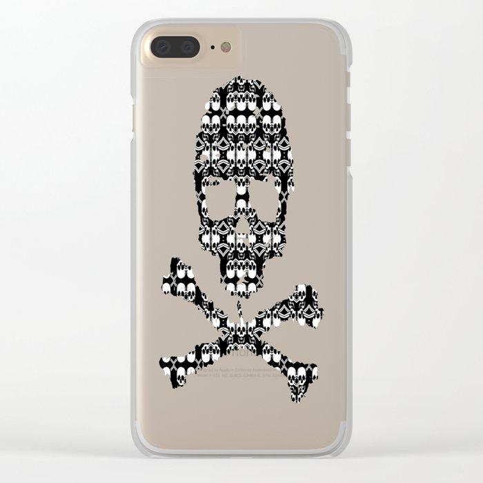 Saber Skulls (Smaller) Clear iPhone Case