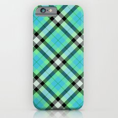 Blue Green Plaid iPhone 6s Slim Case