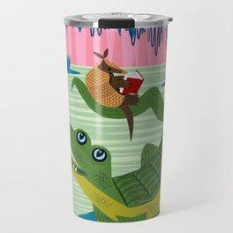 The Alligator and The Armadillo Travel Mug