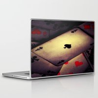 poker Laptop & iPad Skins featuring Poker  by    Amy Anderson