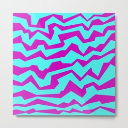 Polynoise Shock New Wave Metal Print