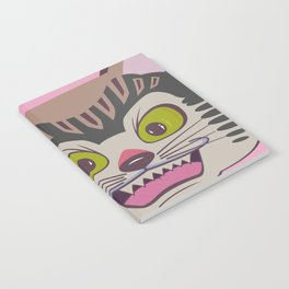 Japanese cat on pink faded enlightments Notebook