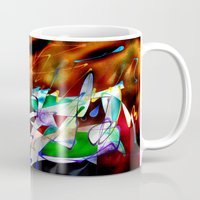 monster inc Mugs featuring Abstract Inc. by Lollis Werks