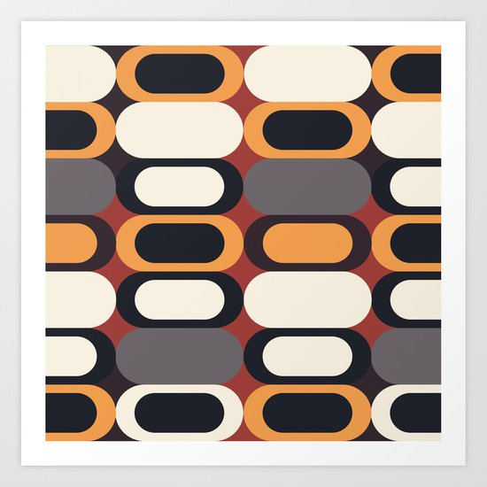 ABSTRACT PATTERN 3 Art Print