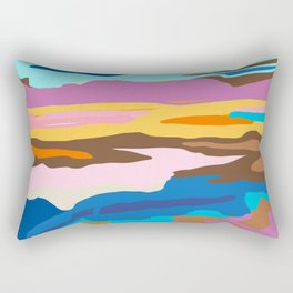 Shape and Layers no.19 - Abstract Modern Landscape Rectangular Pillow