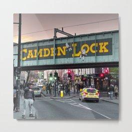 Camden Lock Railway bridge Metal Print