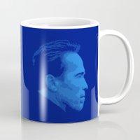 arnold Mugs featuring Arnold Schwarzenegger by Vector Vectoria