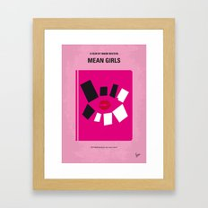 No458 My Mean Girls minimal movie poster Framed Art Print