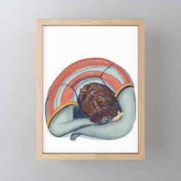2020's blue period Framed Mini Art Print