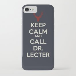 Keep Calm and Call Dr. Lecter iPhone Case