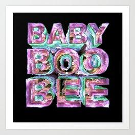 BABY BOO BEE Art Print