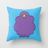 lumpy space princess Throw Pillows featuring Lumpy Space Princess by SBTee's