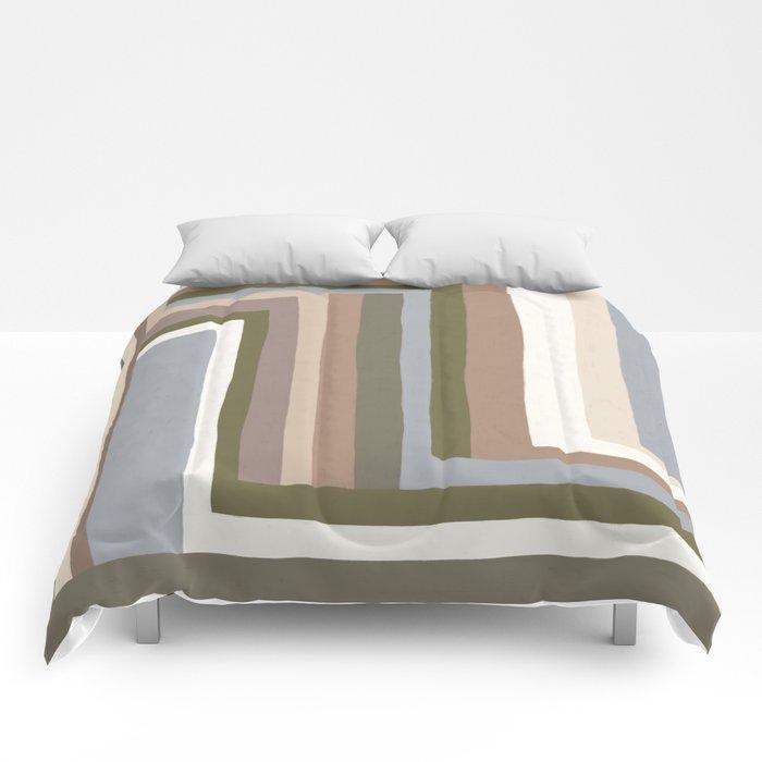 Abstract Neutrals III Comforters