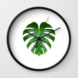 Monstera Mirror Wall Clock
