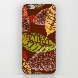 Autumn leaves #7 iPhone Skin