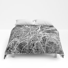 Belfast Northern Ireland City Map Comforters