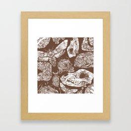 Bones in Brown Framed Art Print