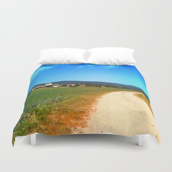 Another lonely hiking trail Duvet Cover