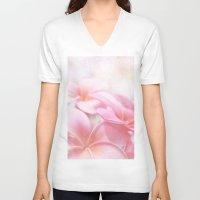 aloha V-neck T-shirts featuring Aloha by Sharon Mau