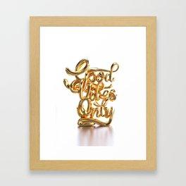 Good Vibes Only - Gold Framed Art Print