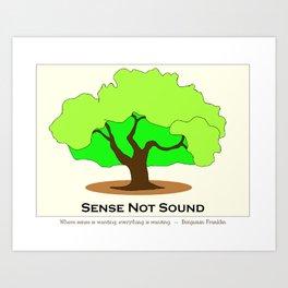 Oak Tree Flag Art Print