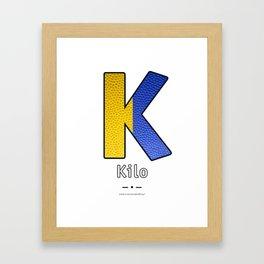 Kilo - Navy Code Framed Art Print
