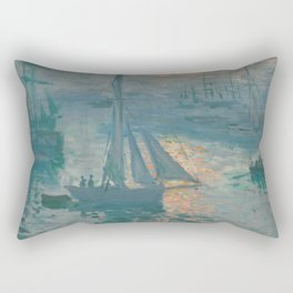 Claude Monet - Marine Sunrise, 1873 Rectangular Pillow