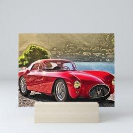 Vintage 1954 Italian Roadster A6GCS Berlinetta Pinin Farina Painting Mini Art Print