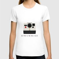 selfie T-shirts featuring Selfie by Laura Maria Designs