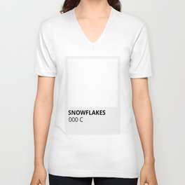 Holiday Color Snowflakes in White Unisex V-Neck