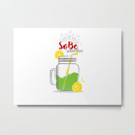 SoBe: Summer, sun, sea & smoothies Metal Print