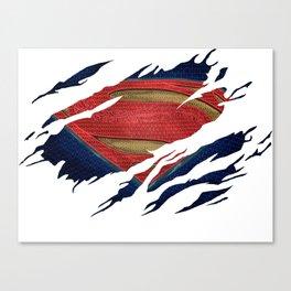 Superman BvS Ripped Symbol Canvas Print