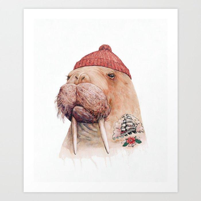 Tattooed walrus Kunstdrucke