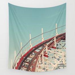 Coast - Vintage Santa Cruz Roller Coaster Wall Tapestry