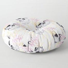 Floral skull glam Floor Pillow