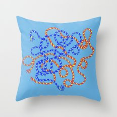 Blue/Red/Yellow Throw Pillow