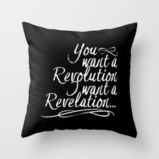 You want a revolution... Throw Pillow