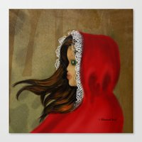 red riding hood Canvas Prints featuring Red Riding Hood by Alannah Brid