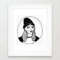 bitch Framed Art Prints featuring bitch. by Lost Property Prints