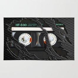Retro classic vintage Black cassette tape Rug