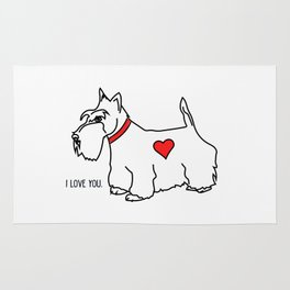 I love you - Scottie Rug