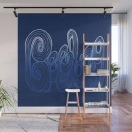 Geelong Typography - Deep Blue Wall Mural