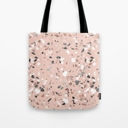 Pink Quartz and Marble Terrazzo Tote Bag