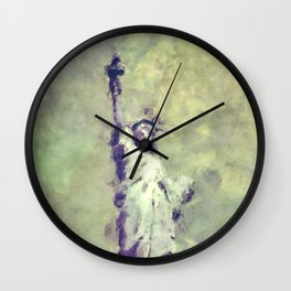 Textured Statue of Liberty Wall Clock