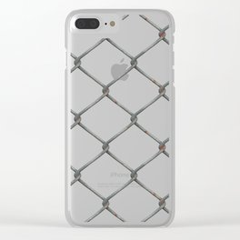 Metal Chain Fence PNG Clear iPhone Case