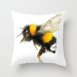 Yellow Bumble Bee Throw Pillow