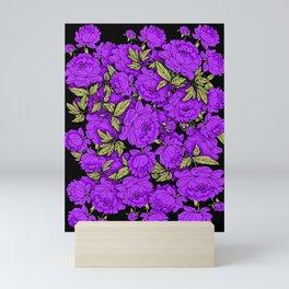 Purple Peonies Mini Art Print